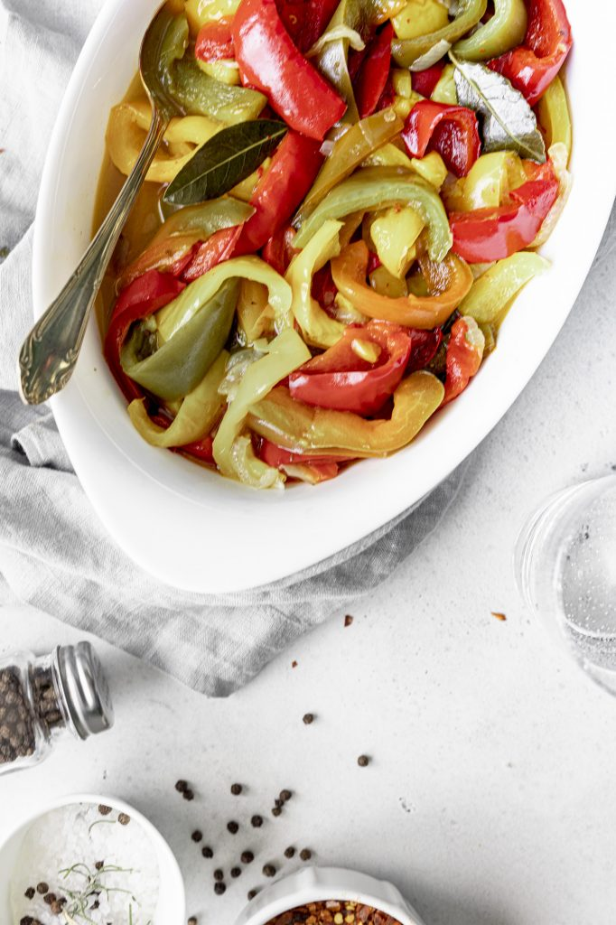 Laurel scented Italian peperonata: super easy and healthy