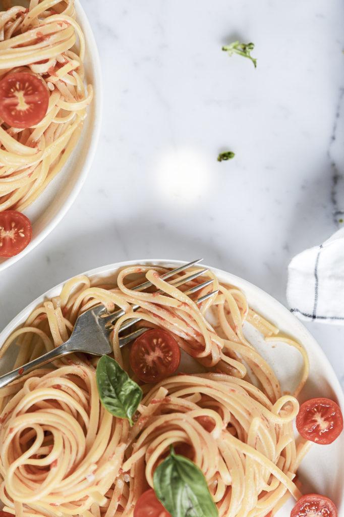 Italian tomatoes pasta
