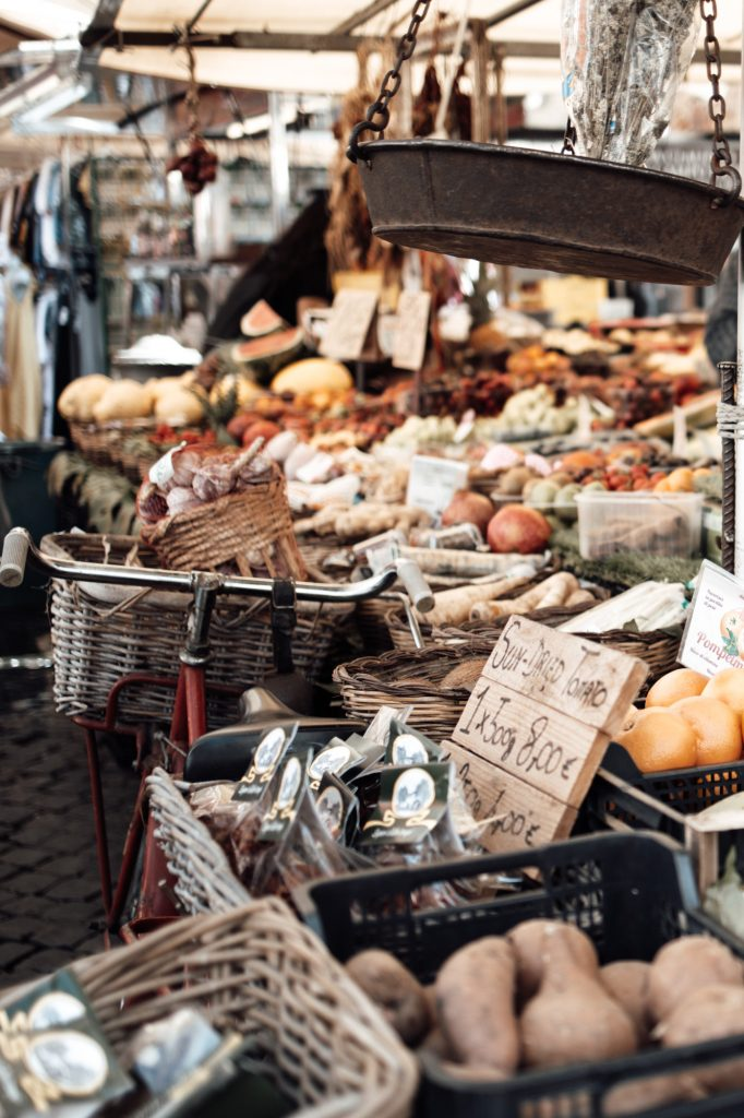 Italian market in Rome