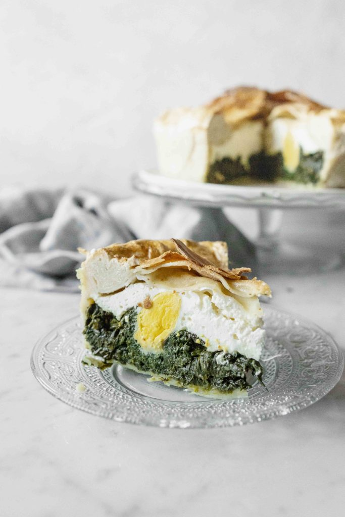 Easy and delightful Northern Italian Easter Pie recipe with ricotta cheese (Torta Pasqualina)