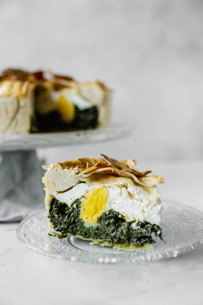 Easy and delightful Northern Italian Easter Pie recipe with ricotta cheese