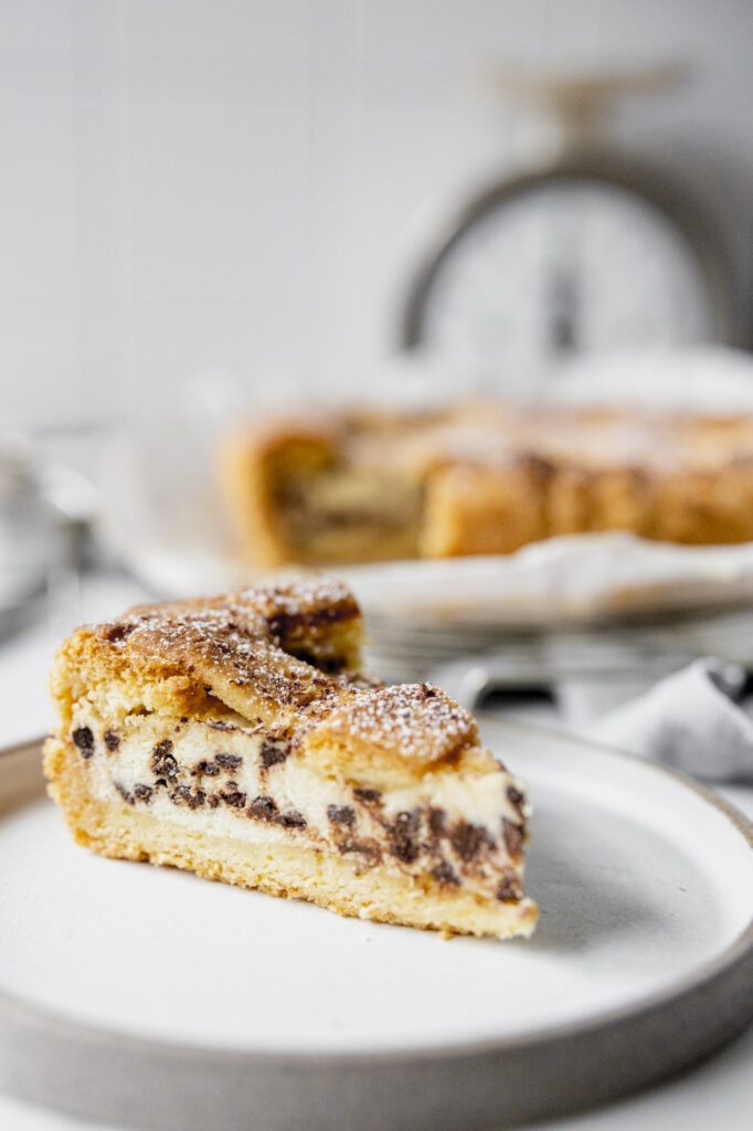 Crostata with ricotta and chocolate