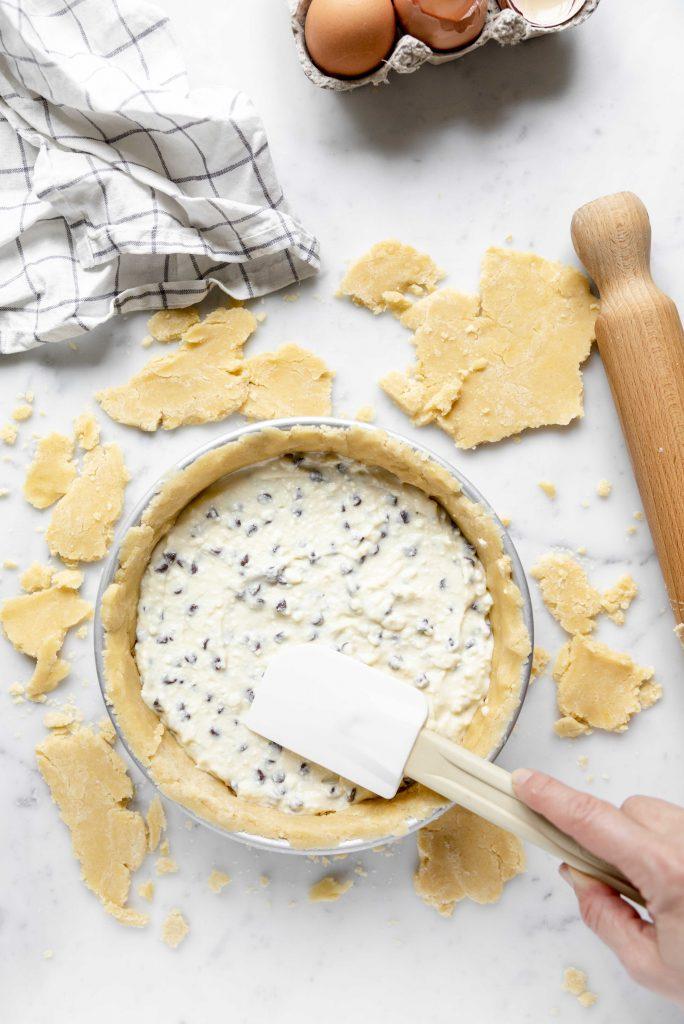 filling ricotta cake