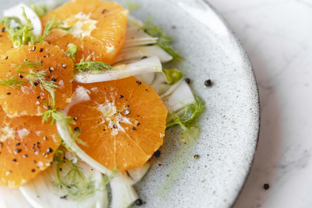 insalata finocchi con arance