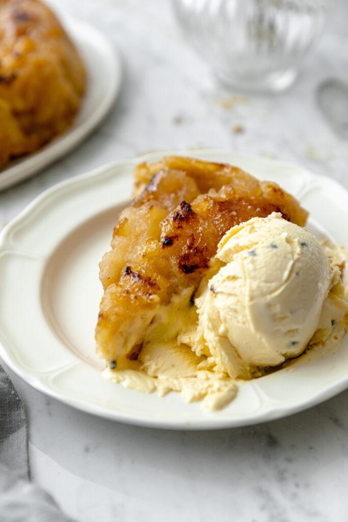 ice cream and tarte tatin