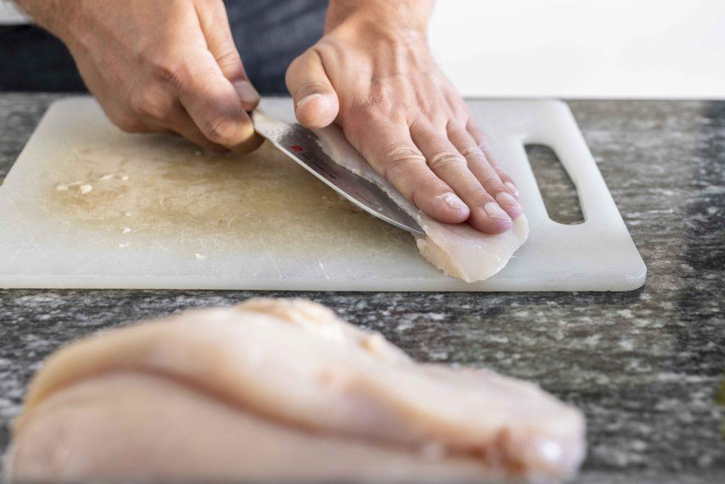 alex cutting chicken breast 1
